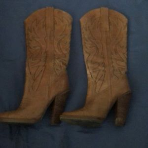 Jessica Simpson heeled boots.